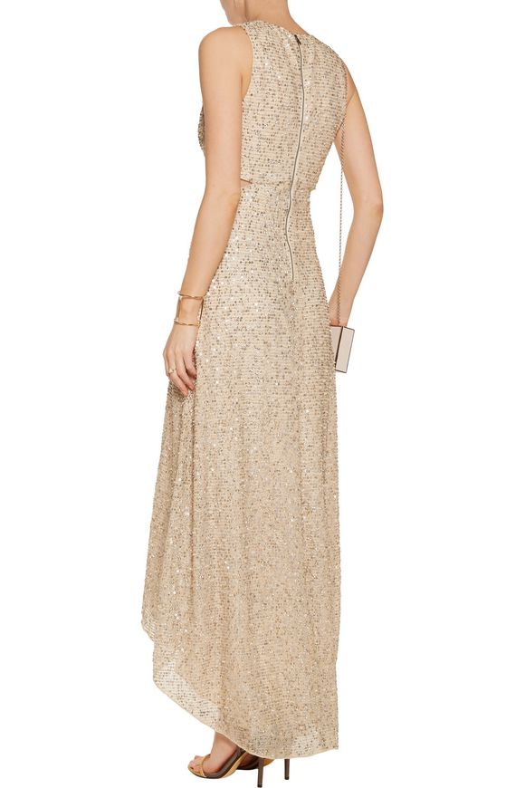 Juelia cutout embellished metallic mesh gown | ALICE+OLIVIA | Sale up to 70%  off | THE OUTNET
