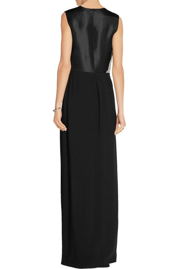 Organza and lace-trimmed silk-crepe gown | 3.1 PHILLIP LIM | Sale up to 70%  off | THE OUTNET