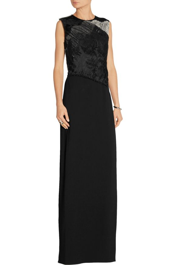 Organza and lace-trimmed silk-crepe gown   3.1 PHILLIP LIM   Sale up to 70%  off   THE OUTNET