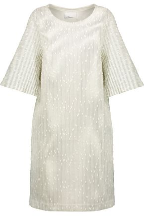 3.1 PHILLIP LIM Striped cotton-blend bouclé mini dress