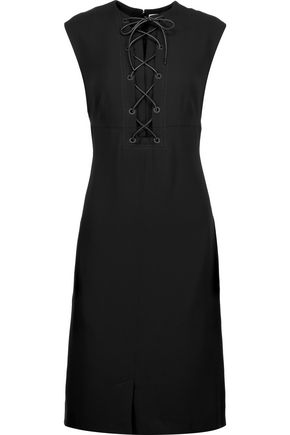 SONIA RYKIEL Lace-up crepe mini dress
