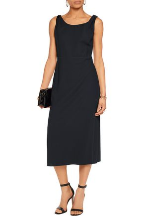 NINA RICCI Wool-crepe midi dress