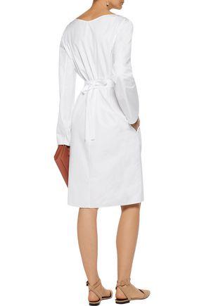 NINA RICCI Cotton-poplin wrap dress