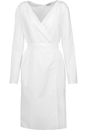 NINA RICCI Cotton-poplin wrap dress