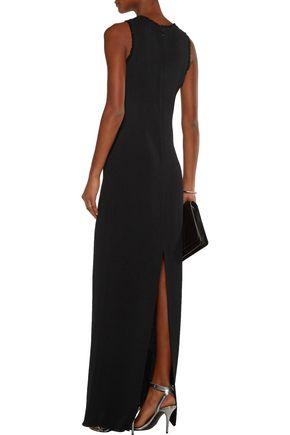 NINA RICCI Frayed crepe maxi dress