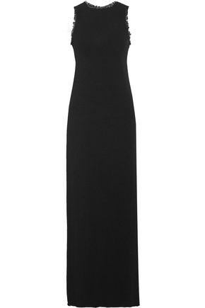 NINA RICCI Frayed crepe maxi dress