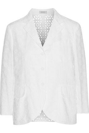 NINA RICCI Broderie anglaise cotton blazer