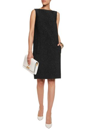 MICHAEL KORS COLLECTION Pleated wool-blend cloqué mini dress