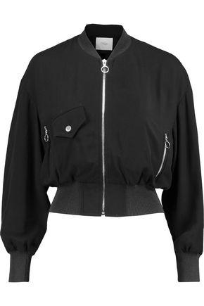 MAJE Twill bomber jacket