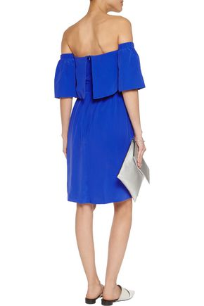PAPER London Kaita off-the-shoulder washed-silk dress
