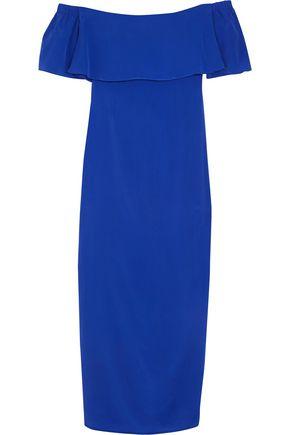 PAPER London Oria off-the-shoulder silk crepe de chine maxi dress