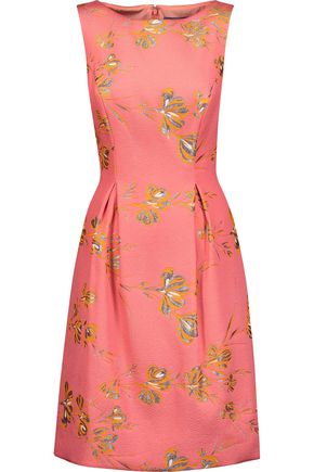 LELA ROSE Betsy metallic brocade dress