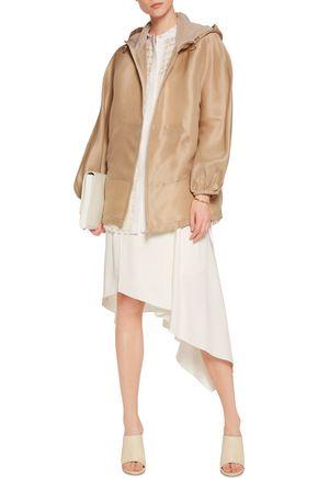 3.1 PHILLIP LIM Iris mesh-paneled silk-gazar hooded jacket