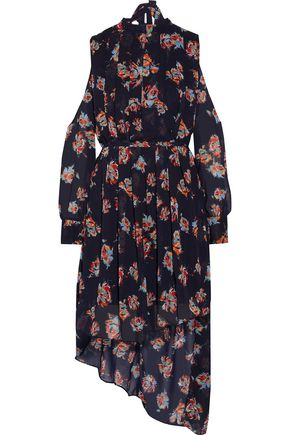 W118 by WALTER BAKER Audrina cutout floral-print georgette dress