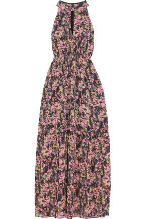 W118 by WALTER BAKER Printed chiffon maxi dress