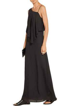 ELIZABETH AND JAMES Ellie draped chiffon maxi dress