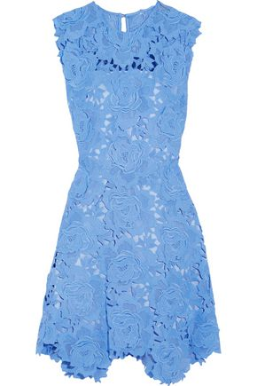 CATHERINE DEANE Asymmetric guipure lace dress