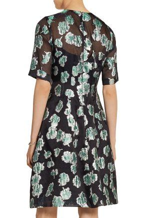 LELA ROSE Fil coupé dress