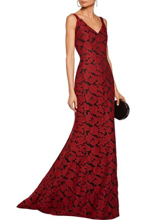 ... J.MENDEL Embroidered gauze gown ...