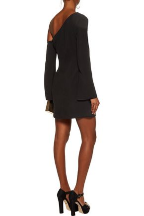 RACHEL ZOE Darren one-shoulder crepe mini dress