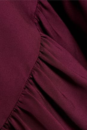 TIBI Asymmetric ruffled silk dress
