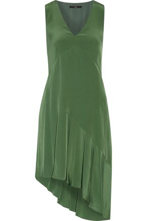 TIBI Asymmetric silk dress