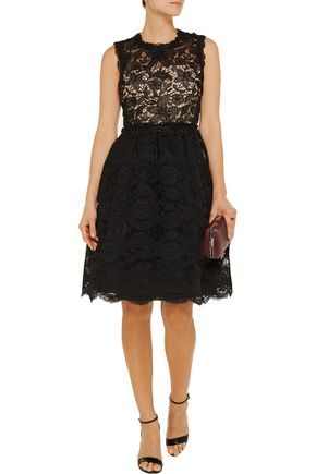 MIKAEL AGHAL Crochet and lace dress