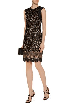 MIKAEL AGHAL Guipure lace dress