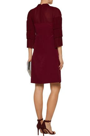 MIKAEL AGHAL Pleated silk crepe de chine dress