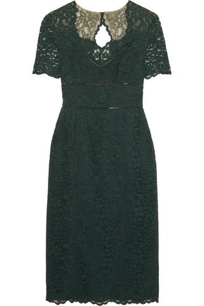MIKAEL AGHAL Cutout lace midi dress