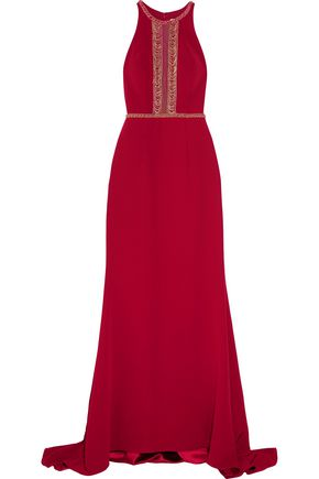 MIKAEL AGHAL Beaded crepe gown