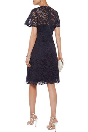 MIKAEL AGHAL Cotton-blend corded lace dress