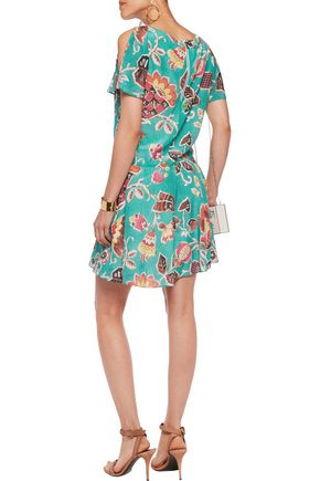 ALICE + OLIVIA Ara printed silk mini dress
