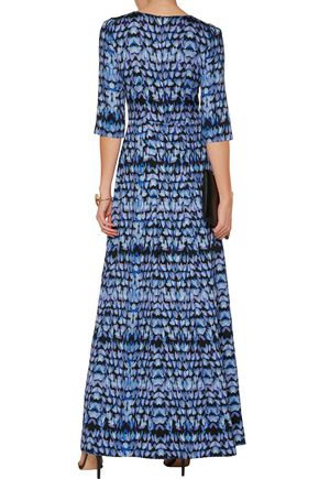 GOAT Camelot printed twill maxi dress