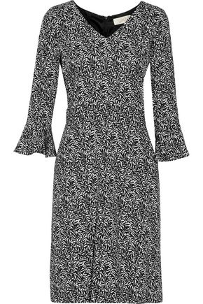 GOAT Cristiana printed stretch-crepe dress