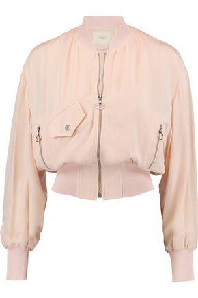 MAJE Jersey bomber jacket