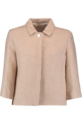 MAJE Cotton and linen-blend jacket