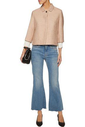 MAJE Cotton and linen-blend jacket