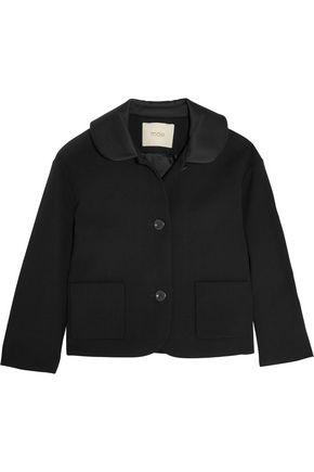 MAJE Varta satin-trimmed crepe jacket