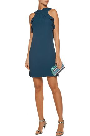 RACHEL ZOE Eden cutout ruffled crepe mini dress