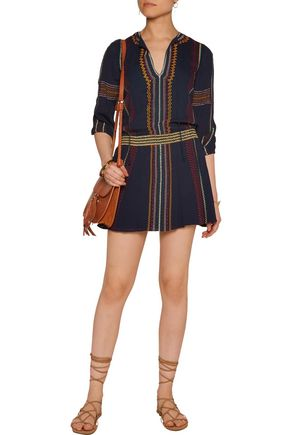 ALICE + OLIVIA Jolene embroidered voile mini dress