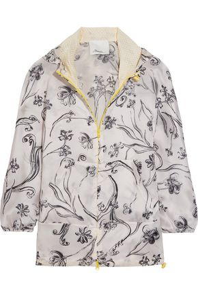 3.1 PHILLIP LIM Printed silk-satin hooded jacket
