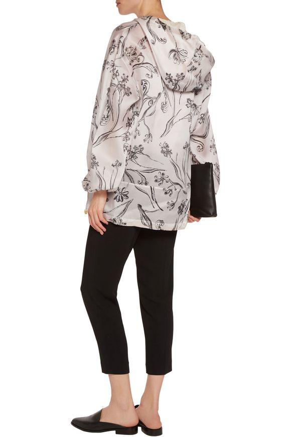 Printed silk-satin hooded jacket | 3.1 PHILLIP LIM | Sale up to 70% off |  THE OUTNET