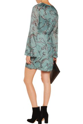 3.1 PHILLIP LIM Printed silk-crepe mini dress