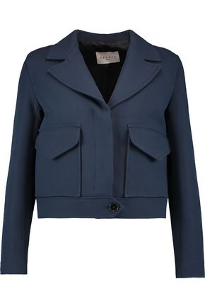 SANDRO Paris Valeria cropped cotton-blend jacket