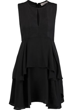 A.L.C. Charli tiered silk-crepe mini dress