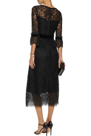 GOAT Cristobel crocheted cotton-blend midi dress