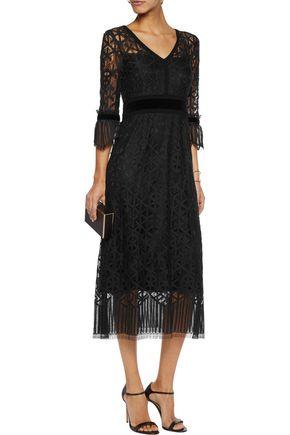 GOAT Cristobel crocheted cotton-blend midi dress