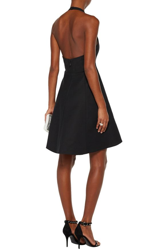 Open-back stretch-cotton halterneck mini dress | HALSTON HERITAGE | Sale up  to 70% off | THE OUTNET