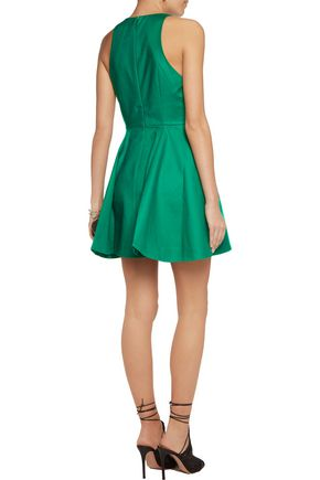 HALSTON HERITAGE Cotton-blend mini dress